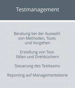Aufgaben Testmanagement